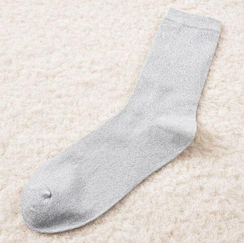 Top Quality Women's Novelty Glitter Socks Thin Gold Sliver Shiny Ankle Socks Ladies Bright Short Sox Sock Female
