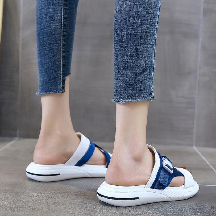 Flat Sandals Open Toe Comfortable Slides Woman Beach Shoes Summer Casual Outdoor Slippers
