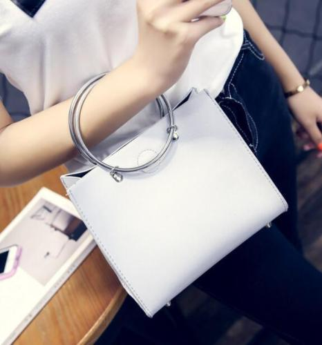 Concentric Ring Personality Shoulder Handbag Noble Temperament Bag