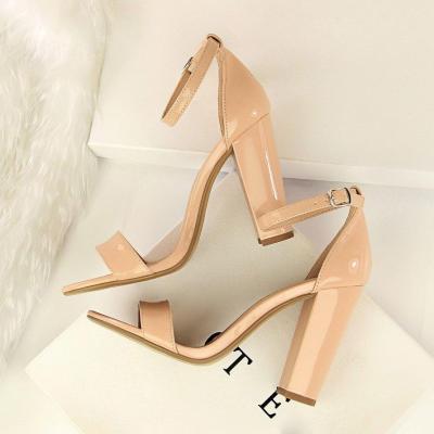 Summer Fashion Classic Woman High Heels Sandals Female Block Chunky Shoes