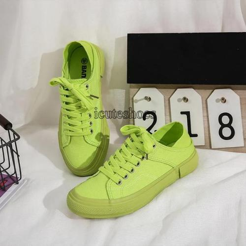 2020 New Women's Shoes Leisure Canvas Shoes Flat Color Shoes Ins Shoes