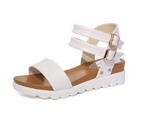 Buckle Sandals Women In Summer New Casual Slope Heel Sandals Wedges