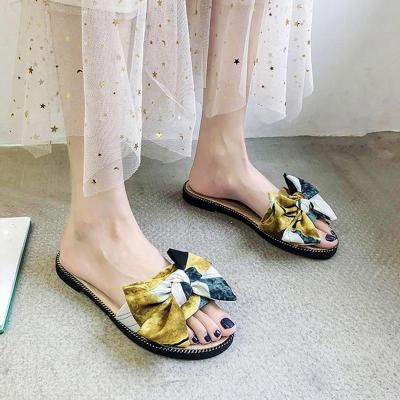 Canvas Mixed Colors Designer Slippers Shoes Women Flip Flops Outdoor Slides Sandals