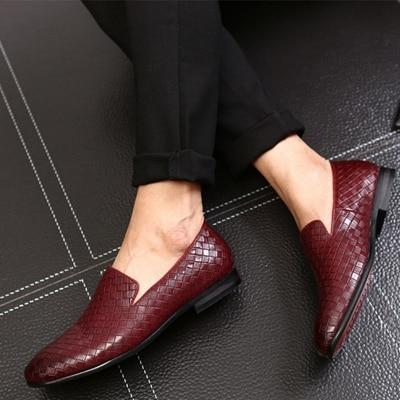 Men Leather Casual Driving Loafers Italian Oxfords Shoes