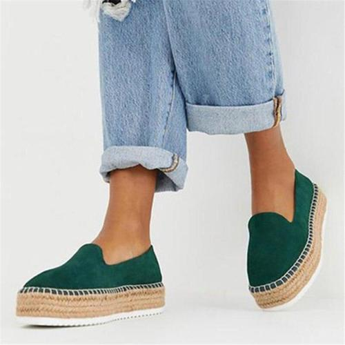 Flat Shoes Woman Faux Suede Shoes Slip-on Casual Loafers Women Platform Flats Ballet Flats Ladies