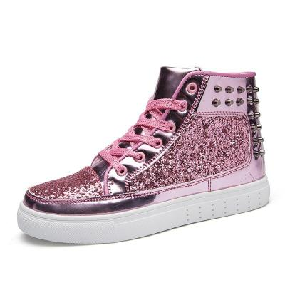Women's Ladies Wedges Sneakers Sequins Shake Shoes Fashion Girls Sport Shoes Sneakers Sneakers Shoes Gold Shoes