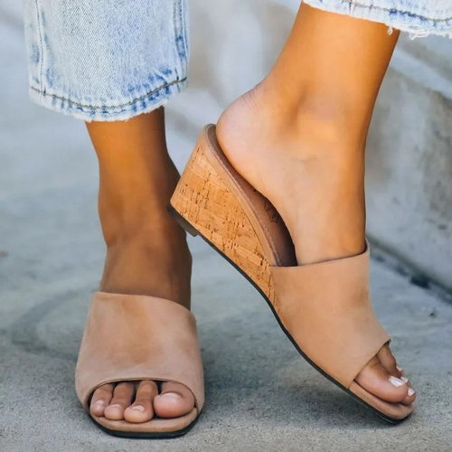 Fashion Women Summer Style Peep Toe Out High Heels Flip Flops Slides Female Party Shoes Woman Sandal