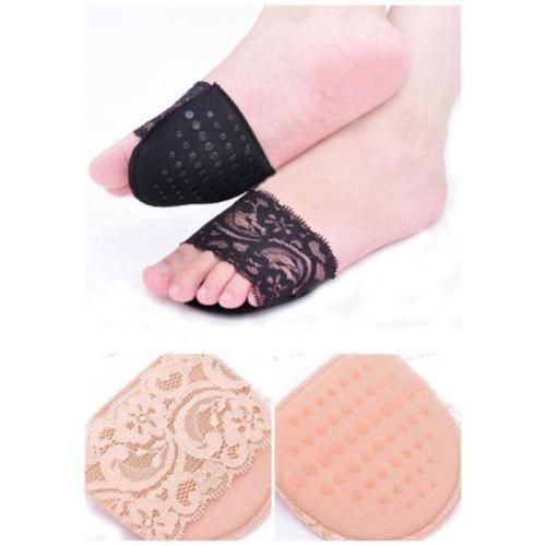 Girls Lady High Heel Shoes Fore Foot Care Protector Insoles Pads Half Front Cushion Shoe Pads Liner