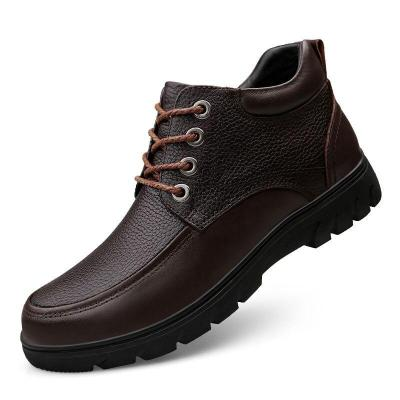 Shoes Genuine Leather Male Leather Shoe Retro Men's Dress Boots Ankle Boot
