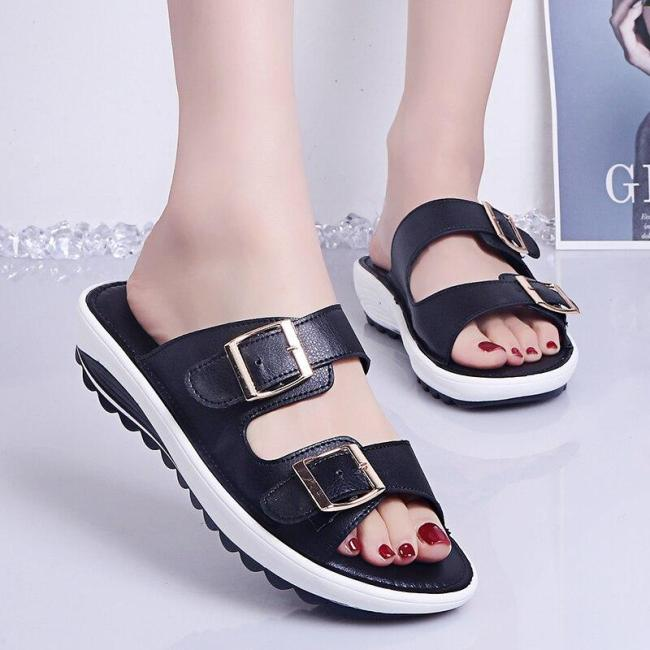 Woman Buckle Comfortable Sport Slides Dropshipping Summer Beach Casual Slippers