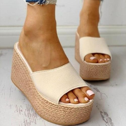 New Summer Women's Sandals Peep-Toe Shoes Woman High-Heeled Casual Wedges For Women High Heels Shoes