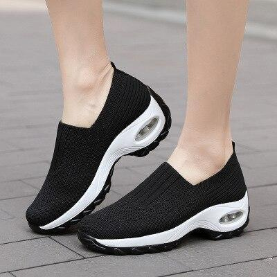 Sneakers Summer Plus Size Women's Shoes Breathable Mesh Solid Walking Shoes Sports Casual Shoes