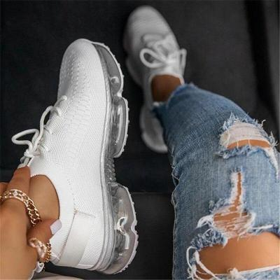 Women Vulcanized Shoes Mesh Lace Up Female Sneakers Comfort Walking Shoes Woman Casual