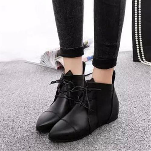 Women's Casual Pointed Toe Flat Boots