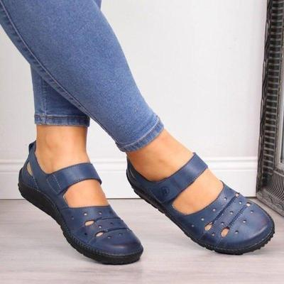 Women Flats Flat Slip on Loafers Plus Size Shoes Woman Chaussures Femme Vintage PU Leather Sandals