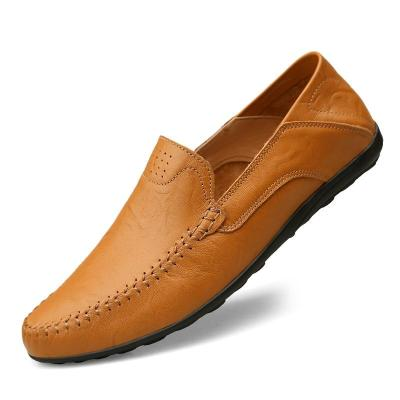 Genuine Leather Men Casual Shoes Luxury Brand Mens Loafers Moccasins Breathable Slip on Driving Shoes