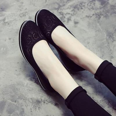 Canvas Nurse Solid Women Flats Platform Casual Shoes