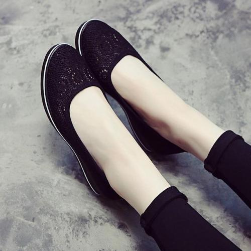 Canvas Nurse Solid Women Flats Platform Casual Shoes