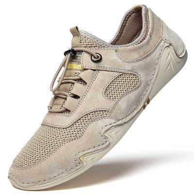 Shoes Fashion Casual Shoe Summer Mesh Leather Footwear Mens Sneakers Walking