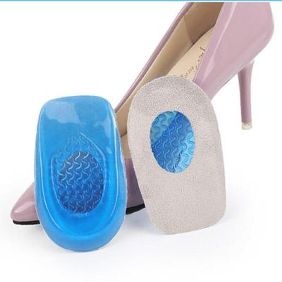 1pair Silicon Gel Heel Cushion Insoles Soles Relieve Foot Pain Protectors Spur Support Shoe Pad Feet Care Inserts Man and Women