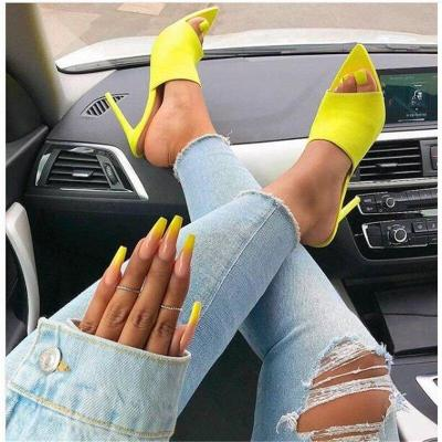 New Summer Slippers Thin High Heels Sandals Women Shoes Sexy Slippers Sandals Pumps