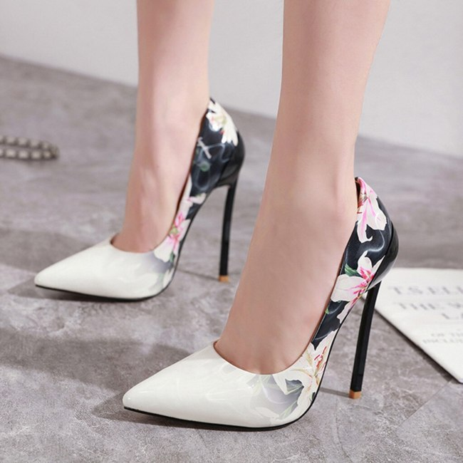 Woman Shoes High Heels Sexy Pumps Summer Womens High Heels Flower Pointed Single Shoes Ladies Sexy