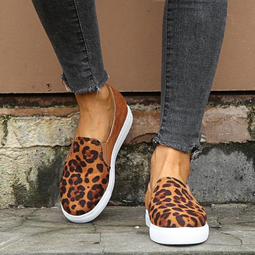 Casual Women's Shoes Woman Fashion Female Flats Leopard Print
