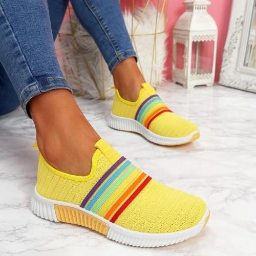 Women Vulcanized Spring Running Shoes Female Slip on Sneakers Sports Shoes Women's Walking