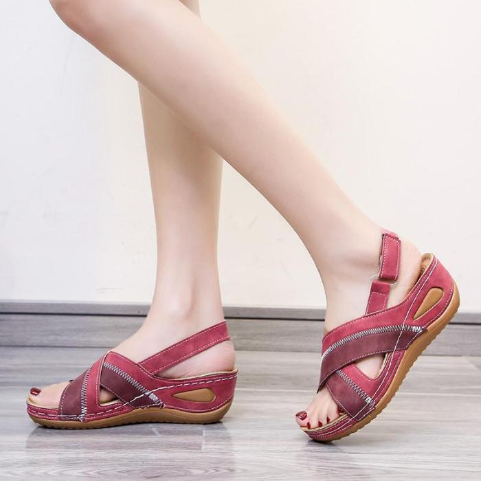 Leather Sandals Summer Shoes Woman Casual Beach Fashion Shoes