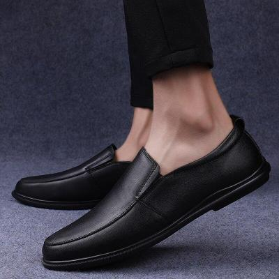 Man's Shoes Slip on Summer Men Leather Shoe Genuine Leather Loafers Male Boat Footwear Flat Moccasins Breathable