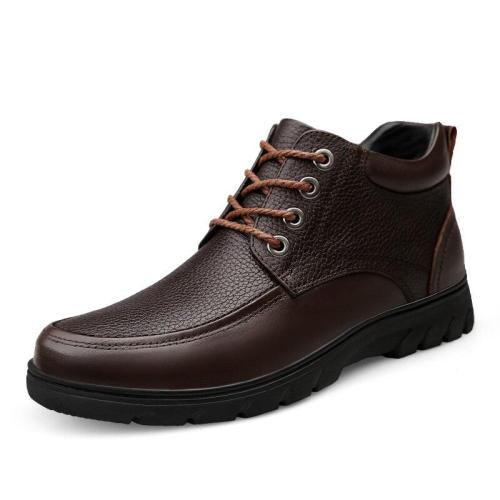 Mans Shoes Genuine Leather Spring Male Leather Shoe Retro Clax Men's Dress Boots Ankle Boot Handmade