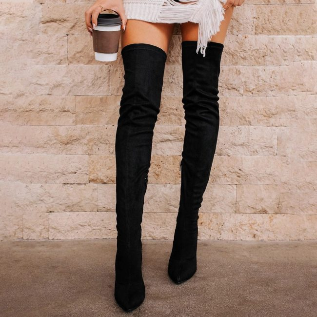 New Women's Boots Over The Knee Long High Heel Winter Women Boots Fashion Casual Women's Shoes