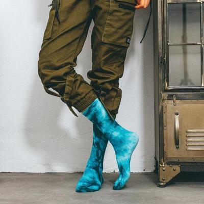 New Arrival Men Women Socks Tie-dye Breathable Cotton Socks Casual Colorful Novelty Pattern Funny Socks