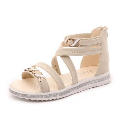 2020 Summer New Sandals Women's Roman Flat Women's Shoes Zipper Women's Sandals