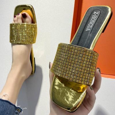 Women Low Heel Sandals Platform Bling Peep Toe Shiny Casual Outdoor Beach Ladies Shoes