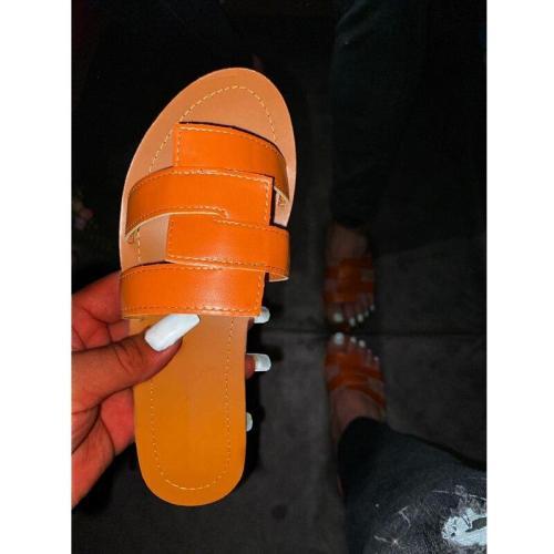 Shoes Summer Outdoor Beach Leisure Comfortable Slippers Fashion Flat Bottom Open Toe Women Sandals