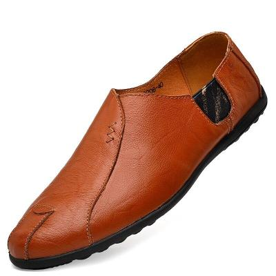 Genuine Leather Mens Shoes Casual Men Loafers Moccasins Breathable Slip on Male Driving Shoes Plus Size