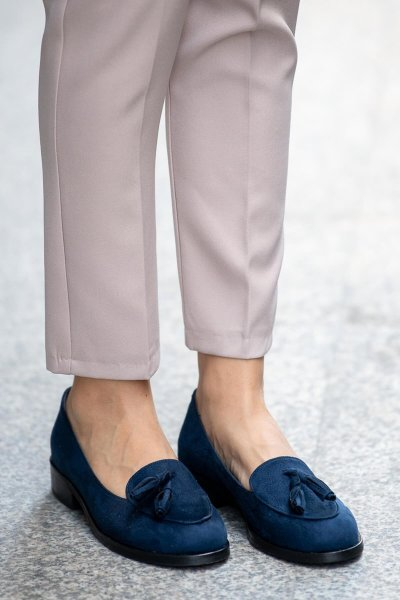 Navy Blue Oxford Shoes