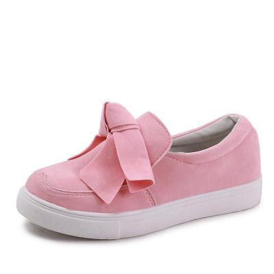 Women Fashion Canvas Bowknot Slip On Flat Heel Shoes