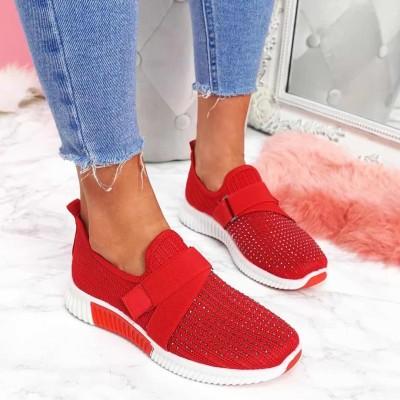 New 2020 Sneaker for Women Shoe Female Knitted Mesh Low-top Ladies Running Shoe Women's Sport Shoes Size