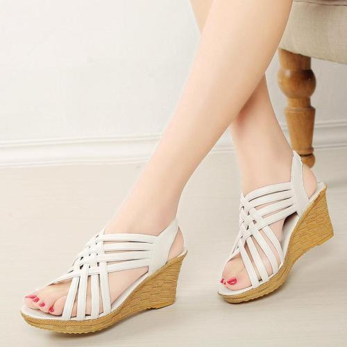 Summer Trend Shoes Slope Heel High Heel Sandals Female Hollow Wedges