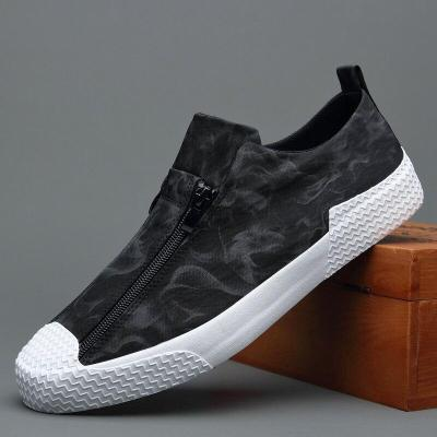 2020 New Canvas Vulcanize Shoes Men Camouflage Sneakers Breathable Spring Trend Double Zipper Casual Flat Shoe