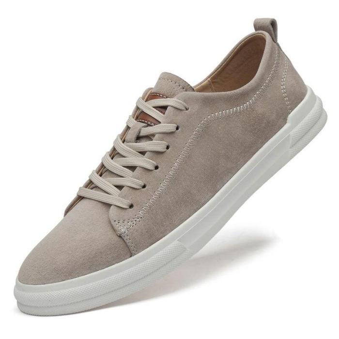 Man Leisure Shoes Leather Summer Autumn Men's Shoe Casual Sneakers Walking Footwear New Soft