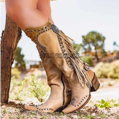 Fashion Women Knee High Boots Thigh High Low Heel shoes