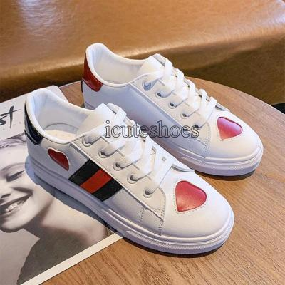 Summer Women Sneakers Pu Leather Shoes Casual Ladies Lace-Up Flats Fashion Sneakers