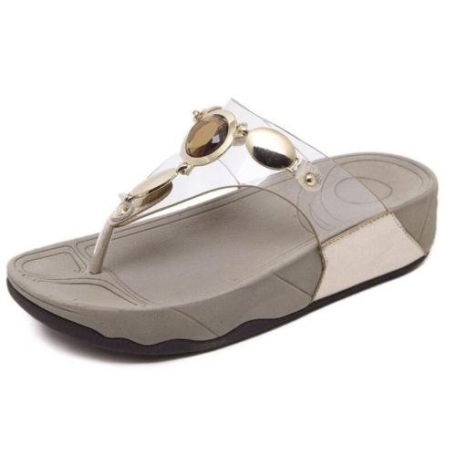 Female Slippers Flat Wedge Beach Shoes Comfortable Woman Flip Flops Sandals