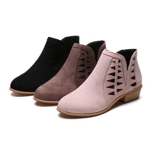 Women's Fashion Chunky Heel  boots
