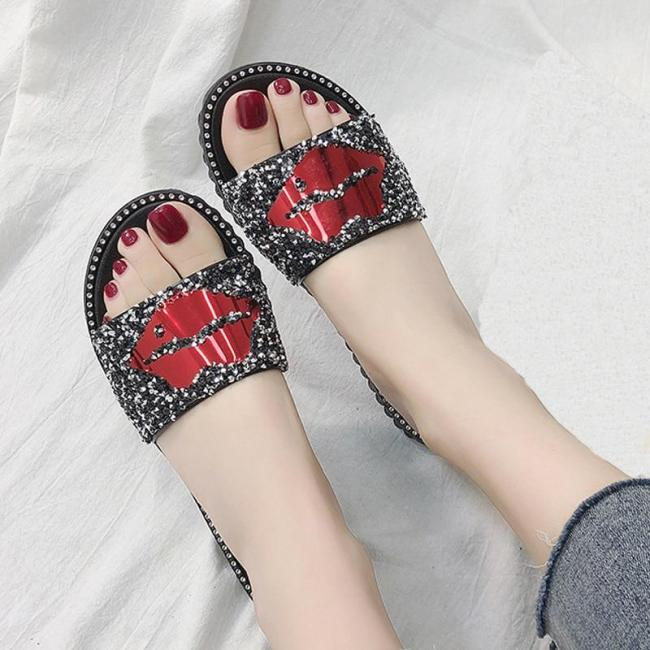 Slippers Casual Flat Sandals Ladies Beach Sandals Non-Slip Shoes