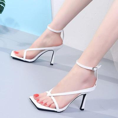 Woman Ankle Strap Sandalias Pumps Sexy Ladies High Heels Gladiator Sandals Summer Stiletto Heel Party Wedding Shoes