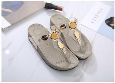 Transparent Non-slip Female Slippers Flat Wedge Summer Beach Shoes Light  Comfortable Woman Flip Flops Sandals